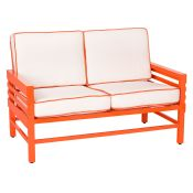 Graphic Contemporary Patio Love Seat by Stori Modern