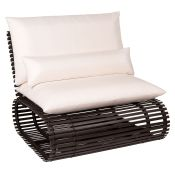 Novel Contemporary Outdoor Rataan Stationary Lounge Chair by Stori Modern