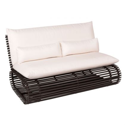 Novel Contemporary Outdoor Rataan Love Seat by Stori Modern