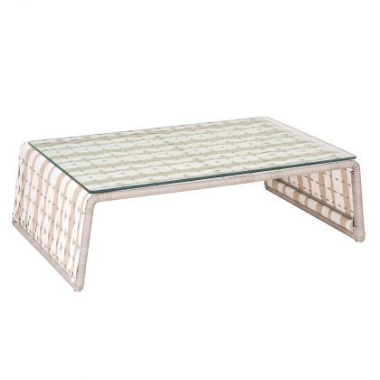 Tabloid Contemporary Outdoor Rataan Coffee Table by Stori Modern