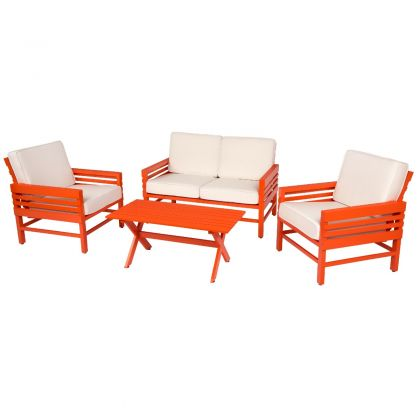 Stori Modern Graphic 4 Piece Garden Furniture Set