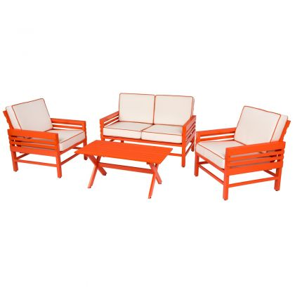 Stori Modern Graphic 4 Piece Garden Furniture Set