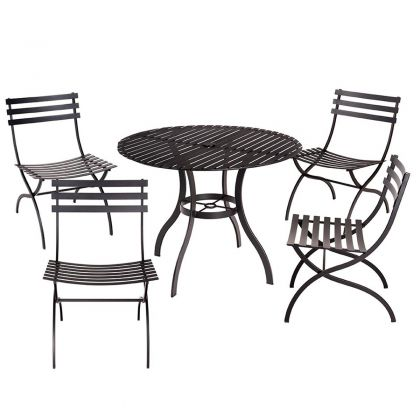 Stori Modern Journal Contemporary 5 Piece Outdoor Furniture Set