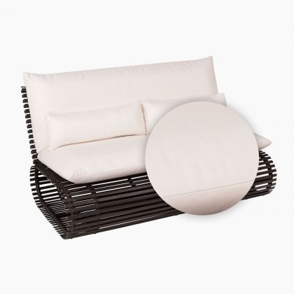 Novel Love Seat Replacement Cushion in white