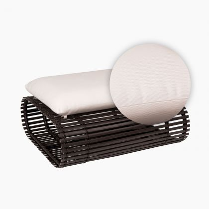 Novel Ottoman Replacement Cushion in white