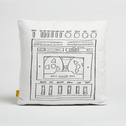 Boombox Outdoor Throw Pillow