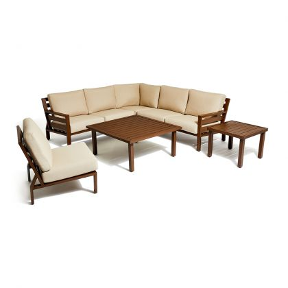 Script 6 Piece Outdoor Modular Seating Set