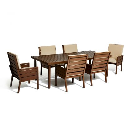 Script 7 Piece Outdoor Dining Set - 2 Motion Chairs