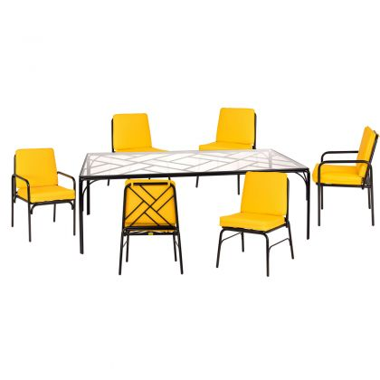 Stori Modern Fairy Tale 7 piece outdoor dining set