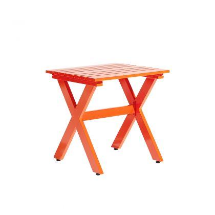 Stori Modern Outdoor Side Table - Graphic Collection in Orange