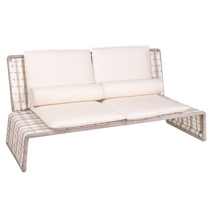 Tabloid Contemporary Woven Outdoor Love Seat by Stori Modern