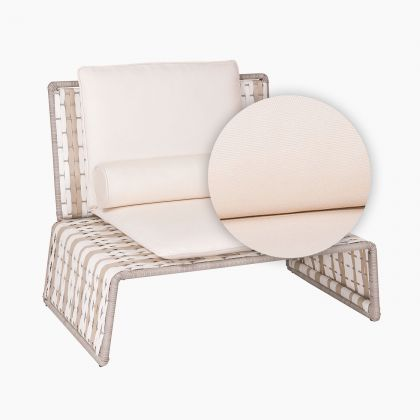 Tabloid Lounge Chair Replacement Cushion in white