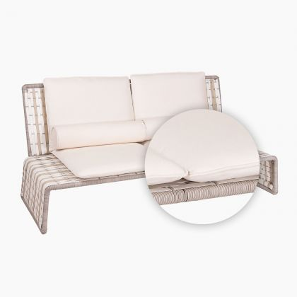 Tabloid Love Seat Replacement Cushion in white