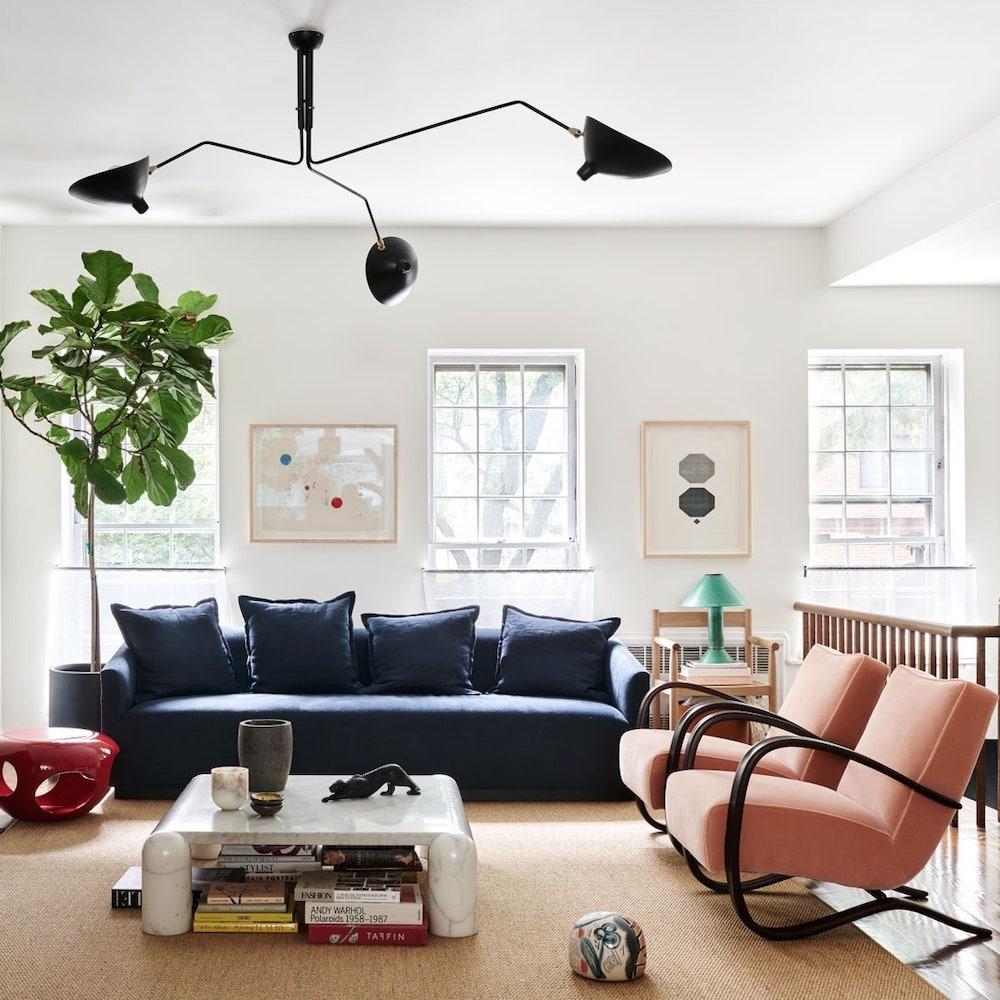 modern room with soft lighting