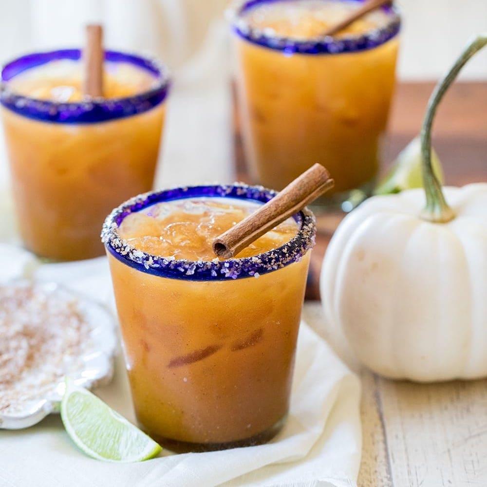 pumpkin margaritas