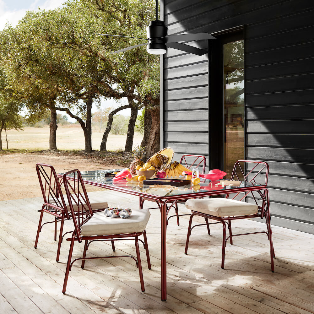 Stori Modern Fairy Tale Outdoor Dining Furniture in Red