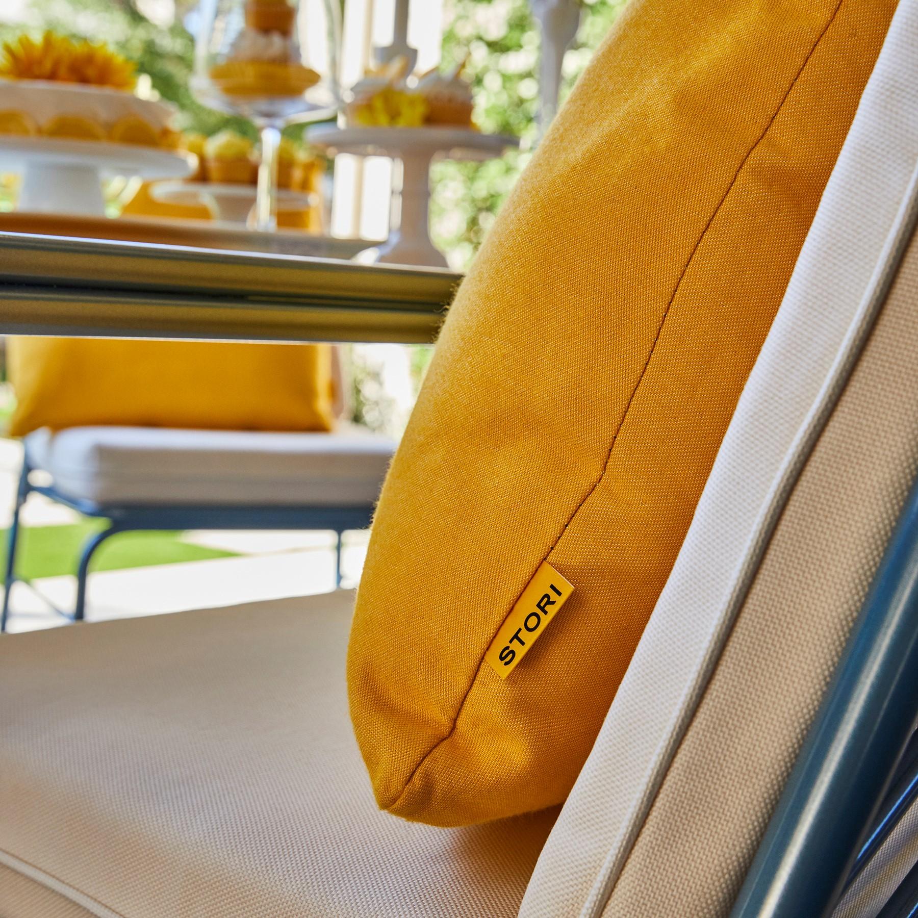 stori modern yellow throw pillow