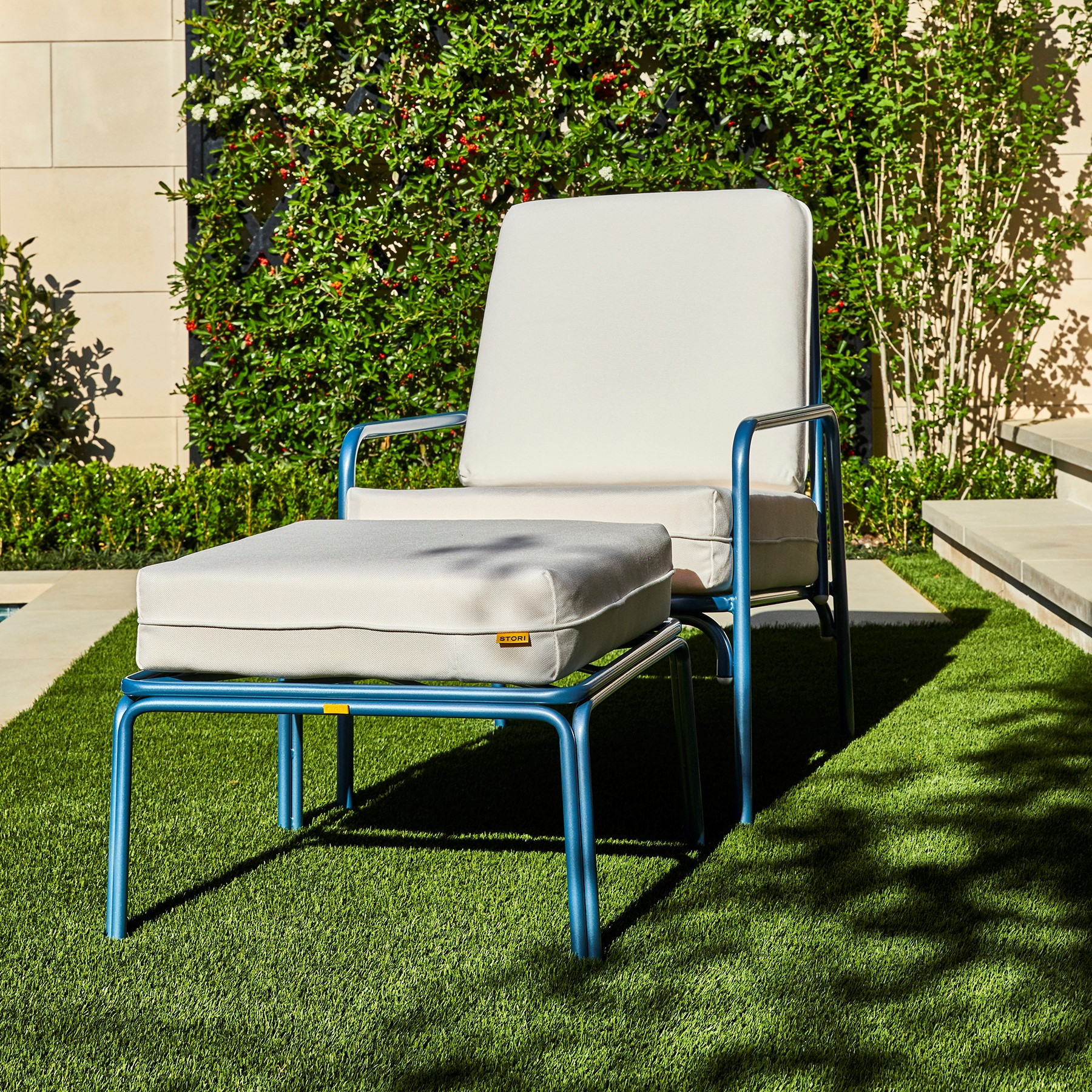 Sunbrella outdoor fabric on Stori Modern Fairy Tale patio furniture