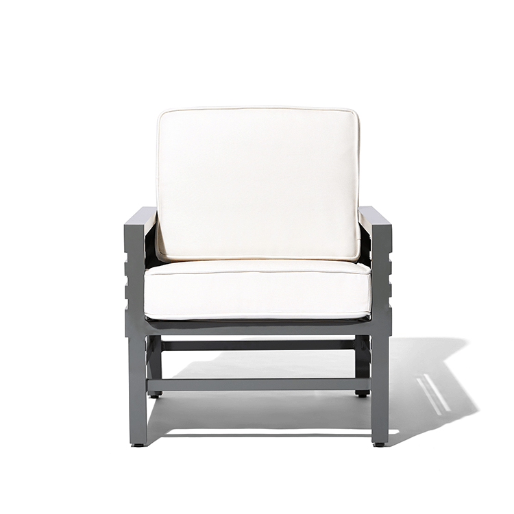 Stori Modern Lounge Chair - Graphic in Gray