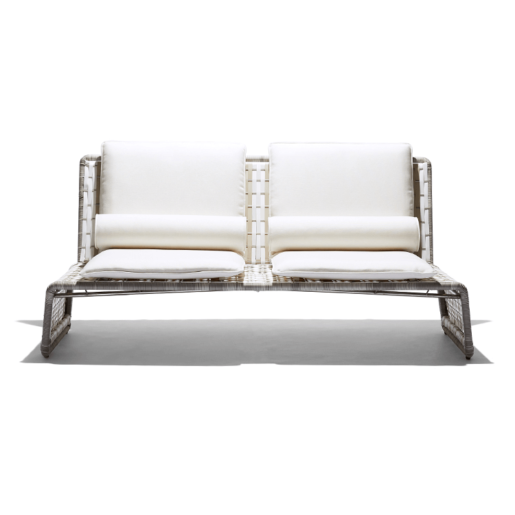 Stori Modern Love Seat - Tabloid in White