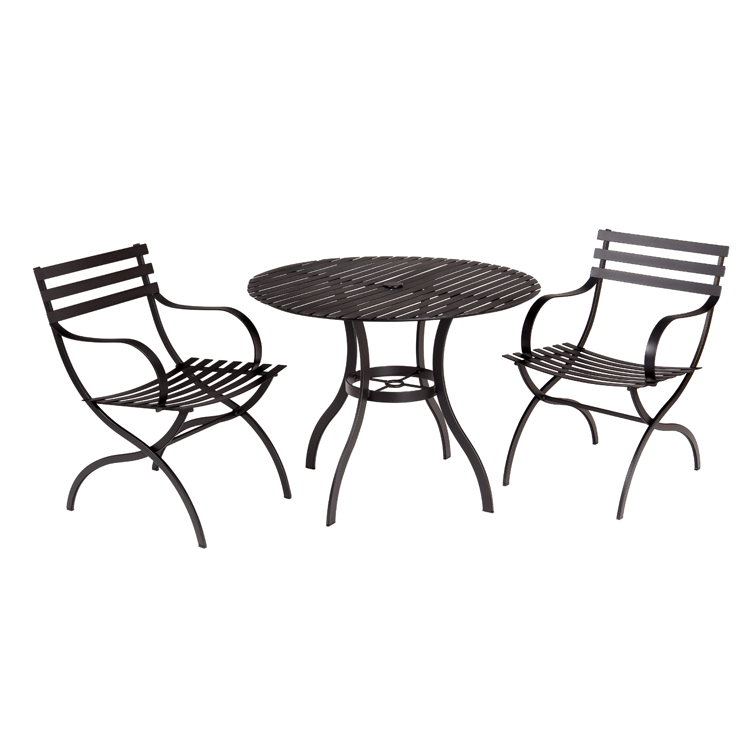 Stori Modern Patio Bistro Set - Journal in Black