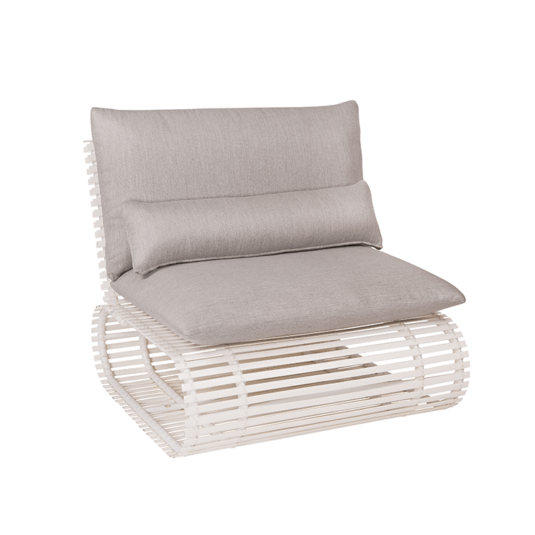 Stori Modern Outdoor Lounge Chair - Novel in White