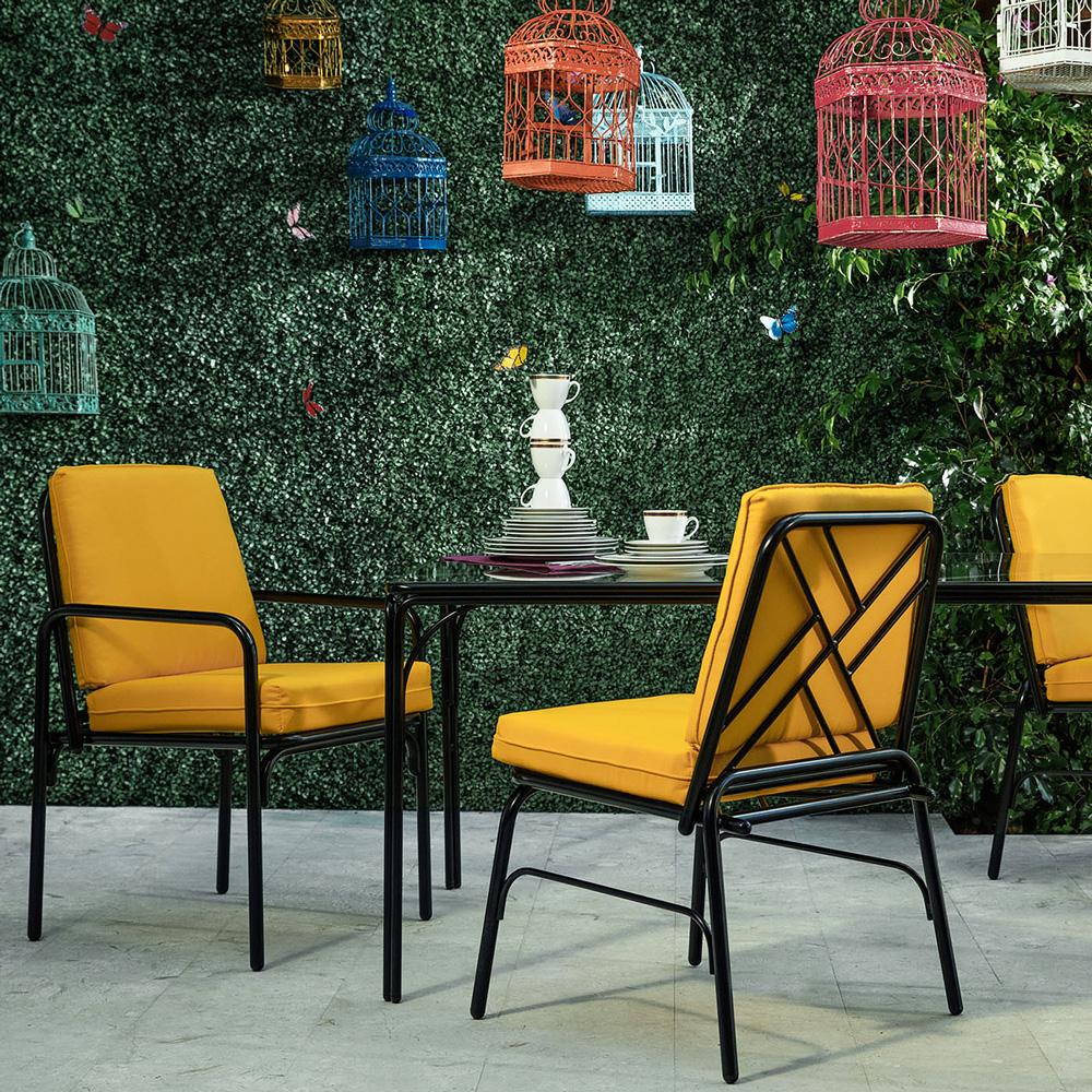 stori modern iron dining outdoor furniture