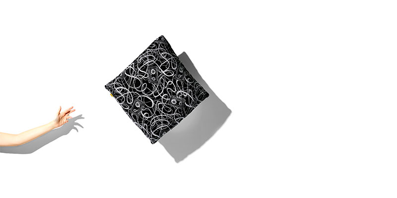 Stori Modern Outdoor Mix Tape Pillow toss