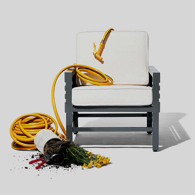 The Graphic Outdoor Lounge Chair by Stori Modern