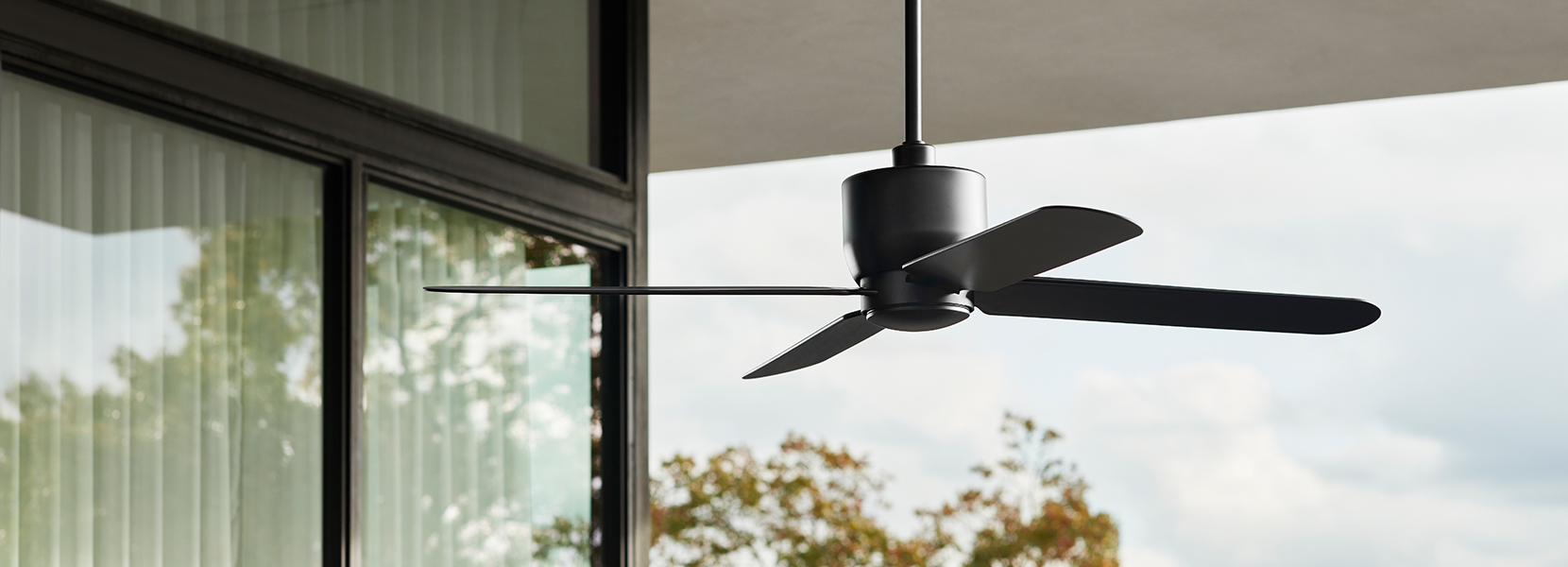 Stori Modern Outdoor Epilogue Ceiling Fan Collection