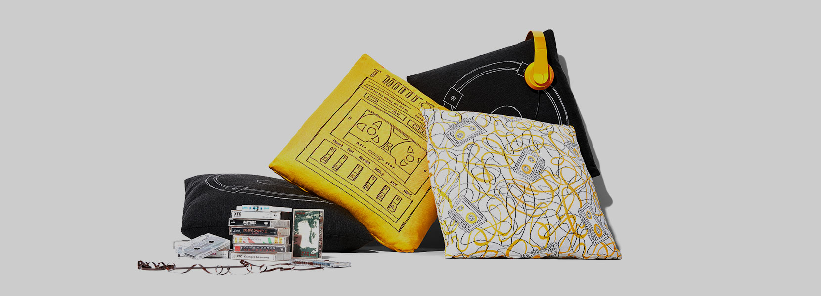 Stori Modern Boombox Pillow Trio Collection
