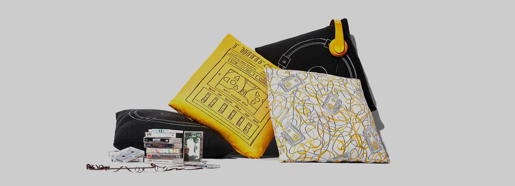 Stori Modern Boombox Pillow Trio Collection