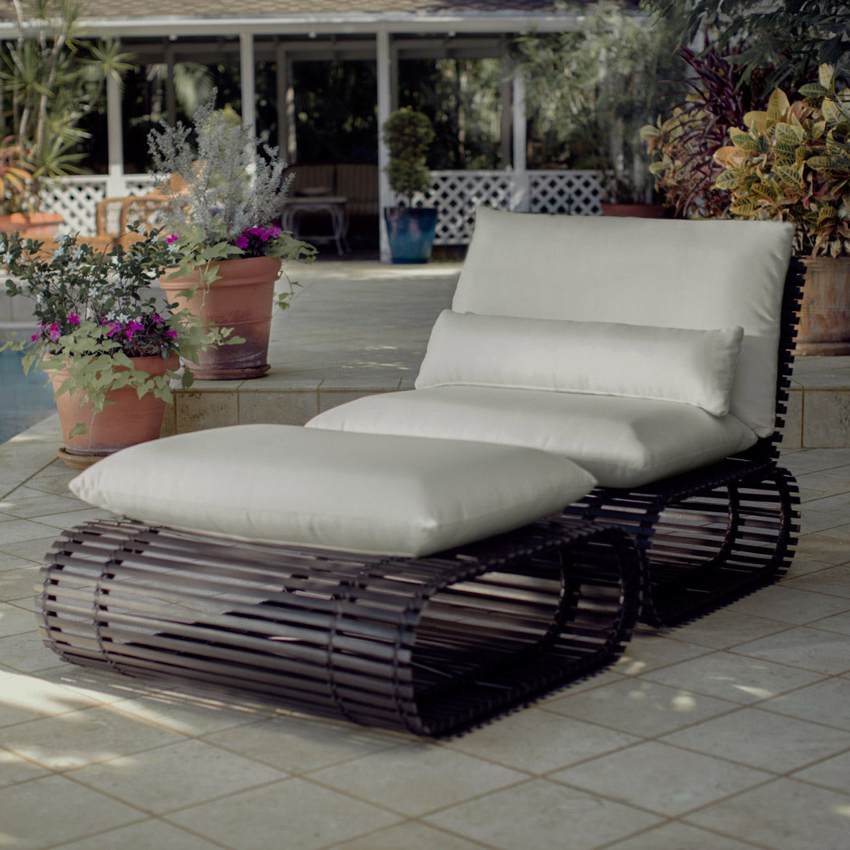 stori modern Novel outdoor Lounge chair and ottoman