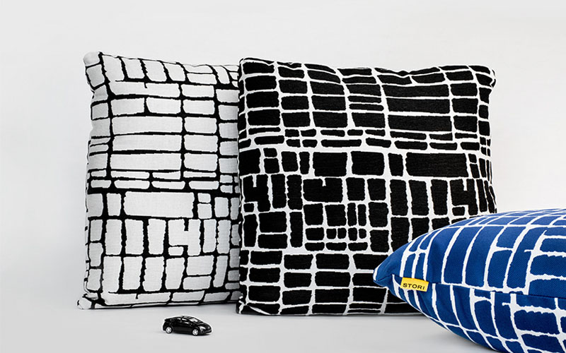 stori modern chicago outdoor pillows in three colors