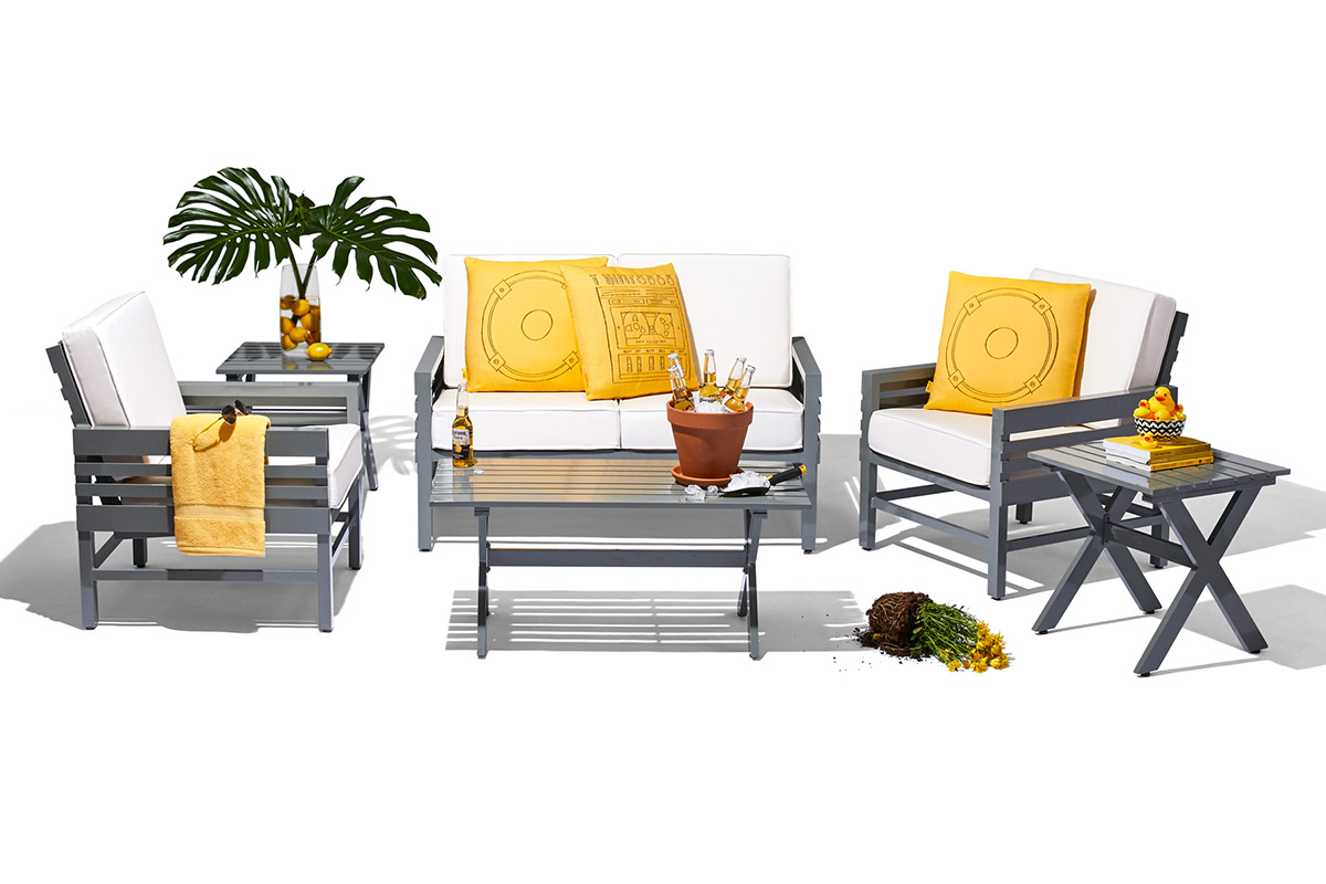 stori modern graphic outdoor furniture set